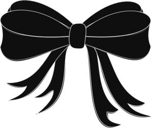 Black bow clip art. Bows clipart ribbon