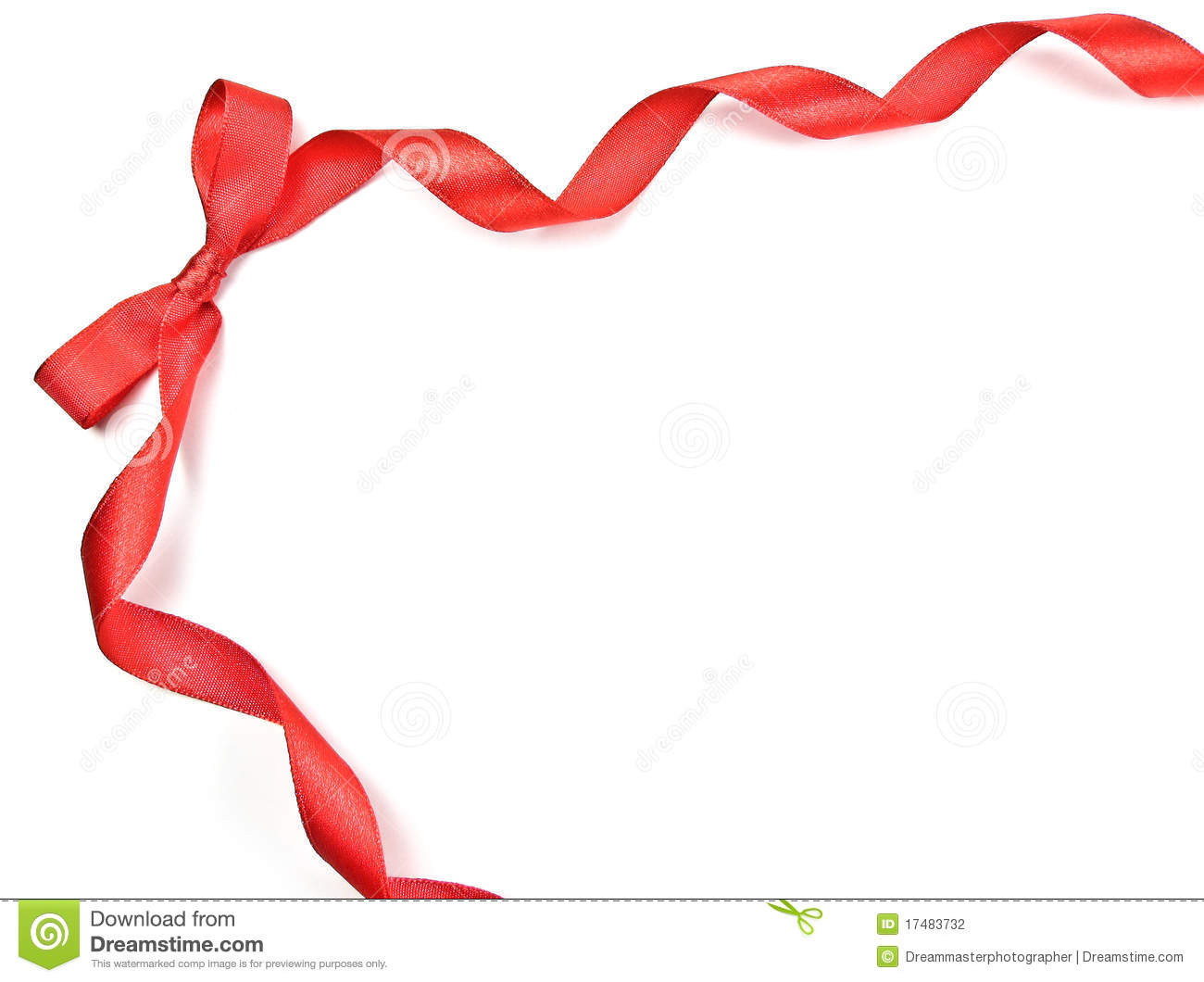 Bow clipart border. Red