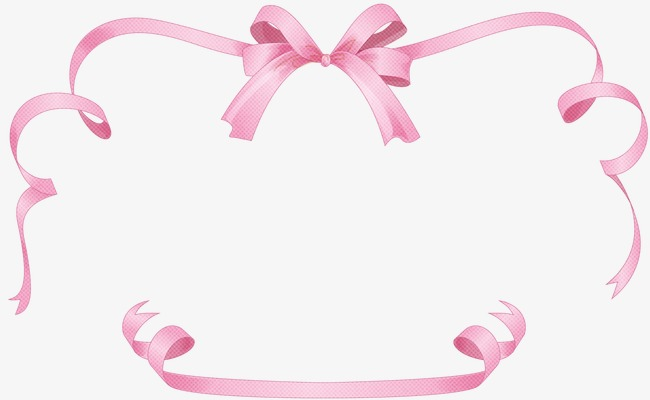 Bow clipart border. Pink png image and