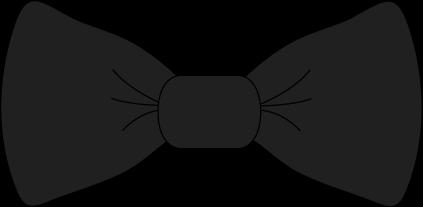 Black bow tie clip. Bowtie clipart cartoon