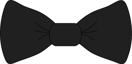 Black bow tie clip. Bows clipart necktie