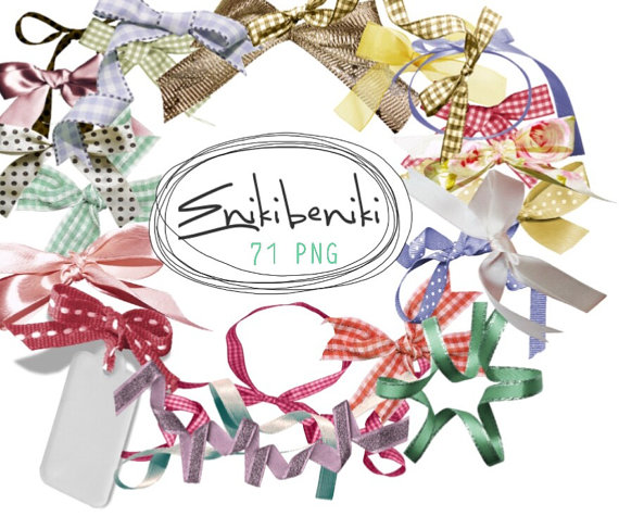 Digital png file . Bow clipart bowknot
