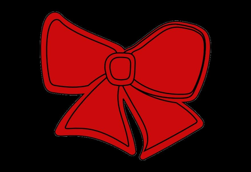 Bow clipart cartoon. Christmas clip art red