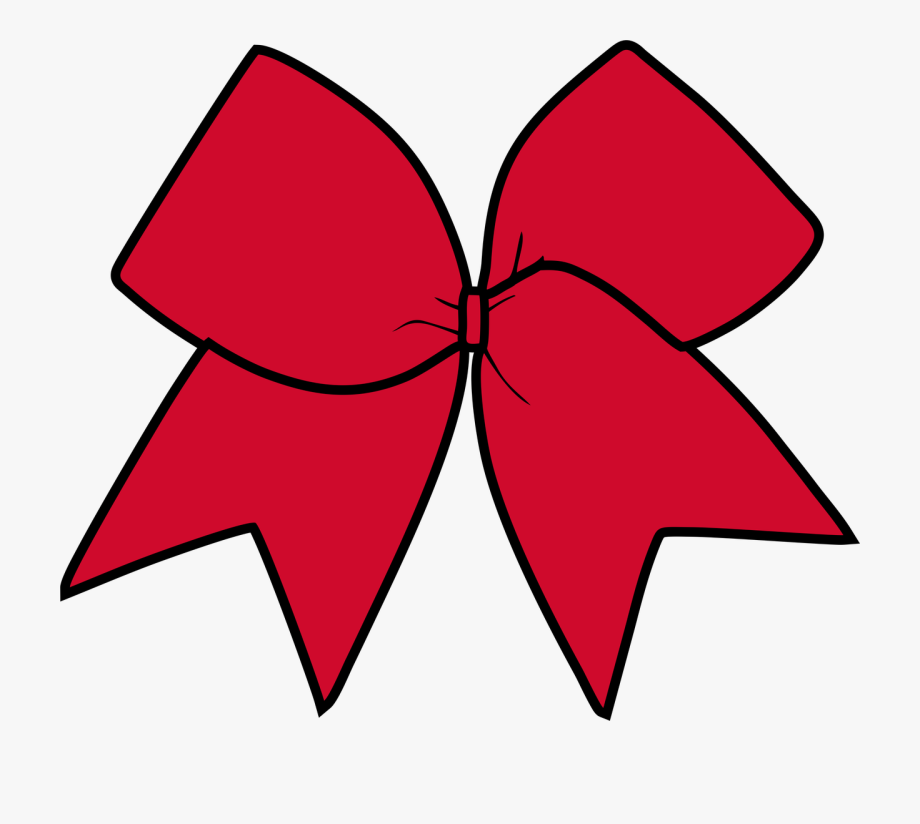 Bow clipart cheer bow. Red clip art free