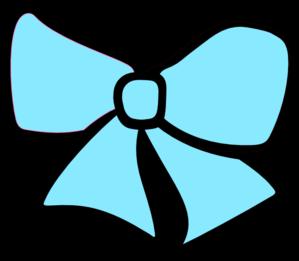 Bow clipart cheer bow. Blue