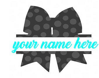 Cheer svg etsy monogram. Bow clipart cheerleading