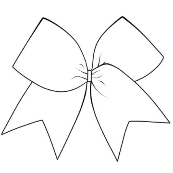 Black and white clipartuse. Bow clipart cheerleading