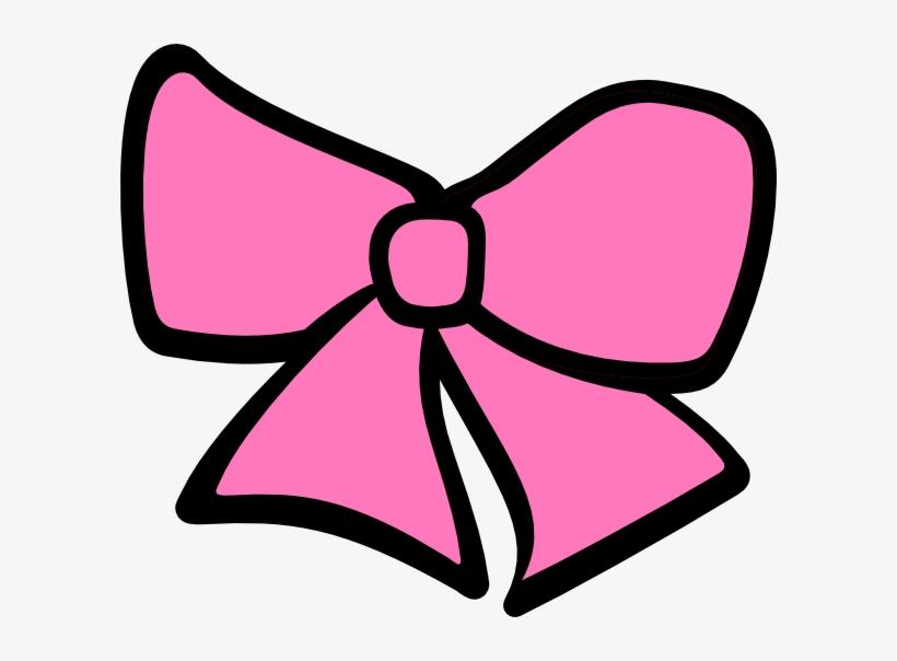 Pink cheer . Bow clipart cheerleading