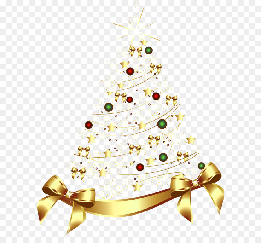 Gold as an investment. Bows clipart christmas tree decoration