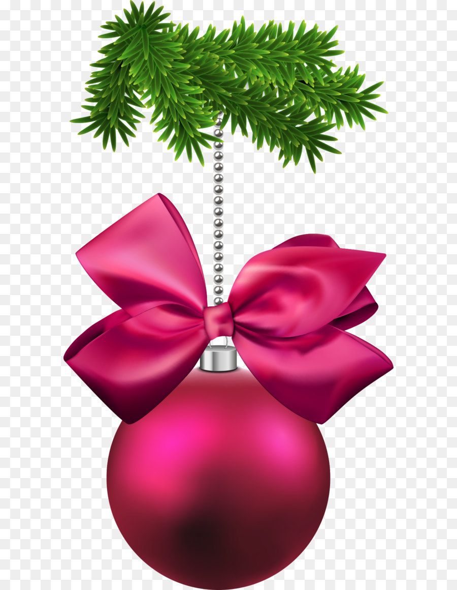 Bows clipart christmas tree decoration. Ornament bow and ball
