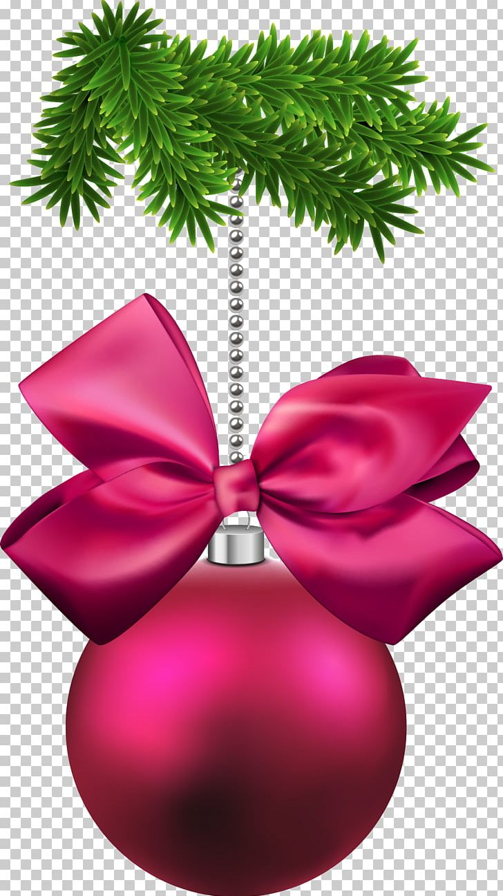 Ornament png . Bows clipart christmas tree decoration
