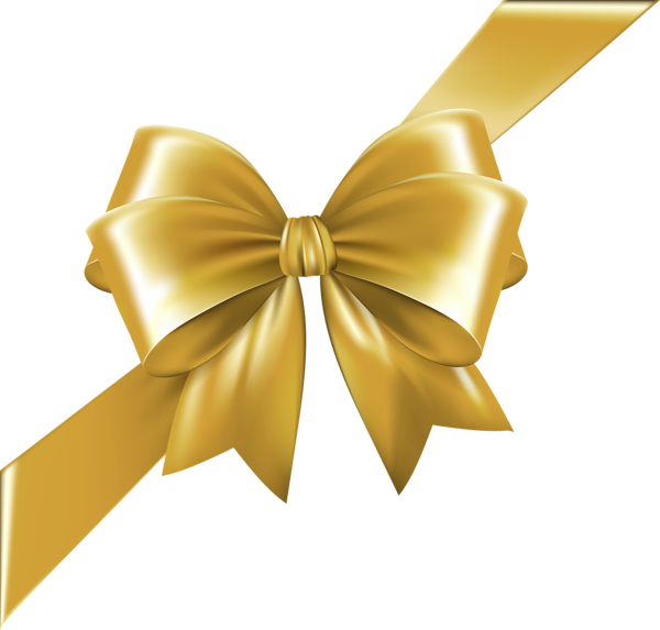 Bows clipart corner. Bow with ribbon gold