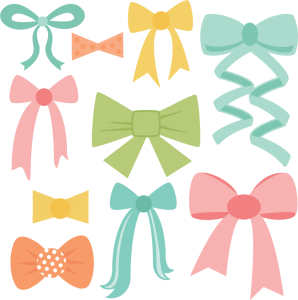 Miss kate cuttables product. Bows clipart file