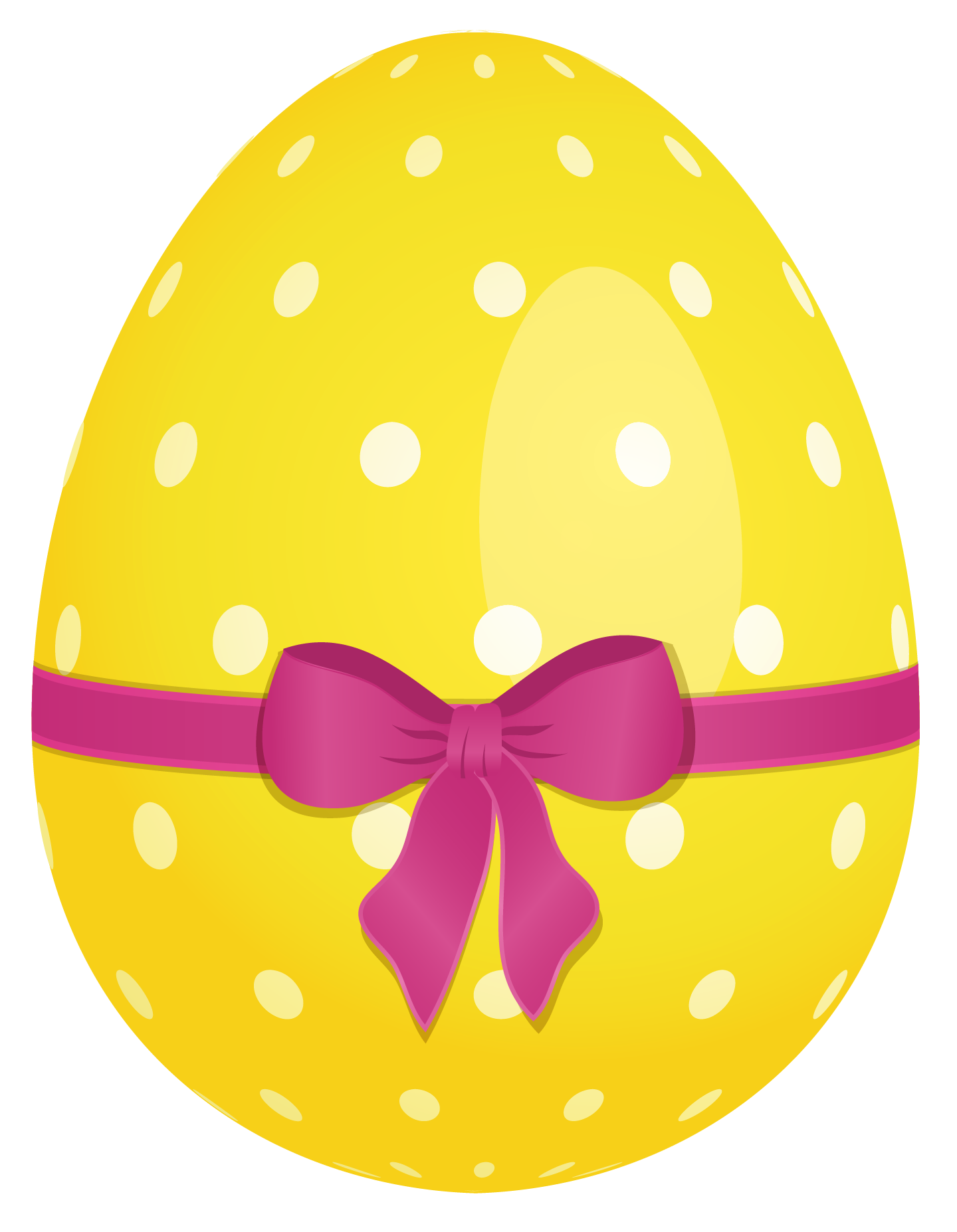 Clipart free egg. Yellow dotted easter with