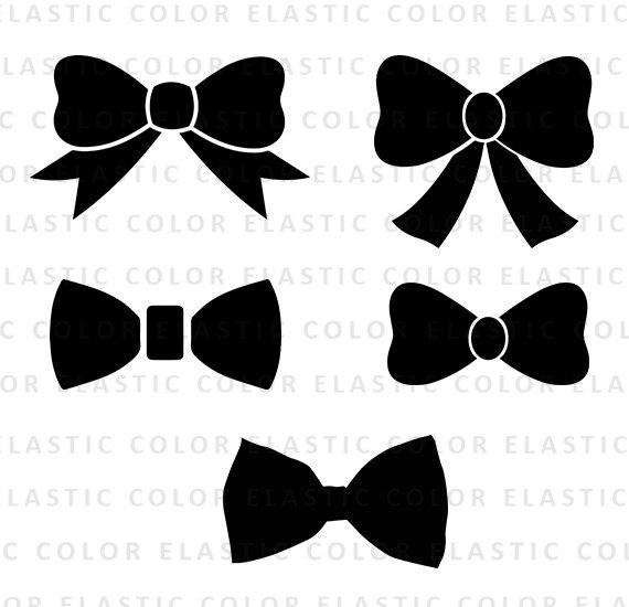 Bow svg collection digital. Bows clipart file