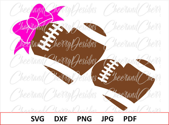 Bows clipart football. Heart svg bow monogram