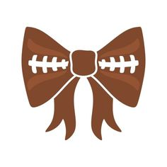 Bow cuttable design cut. Bows clipart football