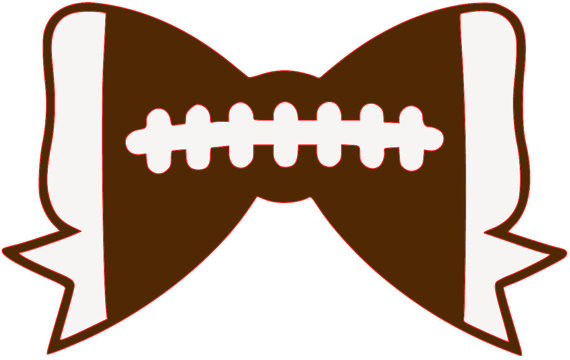 Bows clipart football. Bow svg cut file