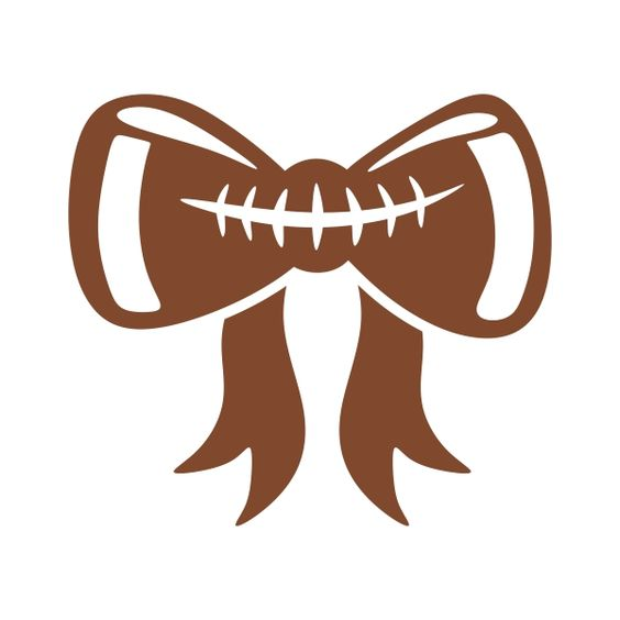 With bow clip art. Bows clipart football