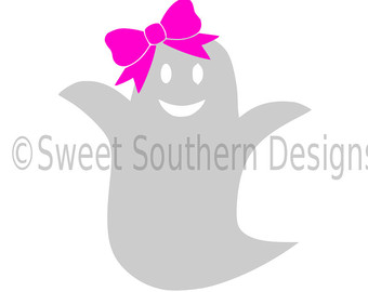 Bows clipart ghost. With bow svg etsy
