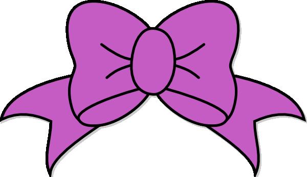 Purple Hair Bow Clip Art at Clker
