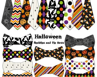 Bows clipart halloween. Neckties etsy necktie and