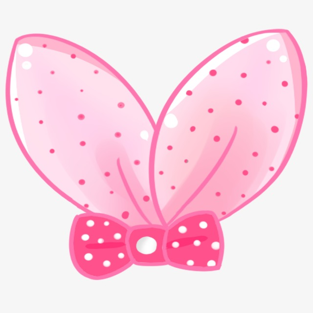 Bow cartoon lovely png. Bows clipart kawaii