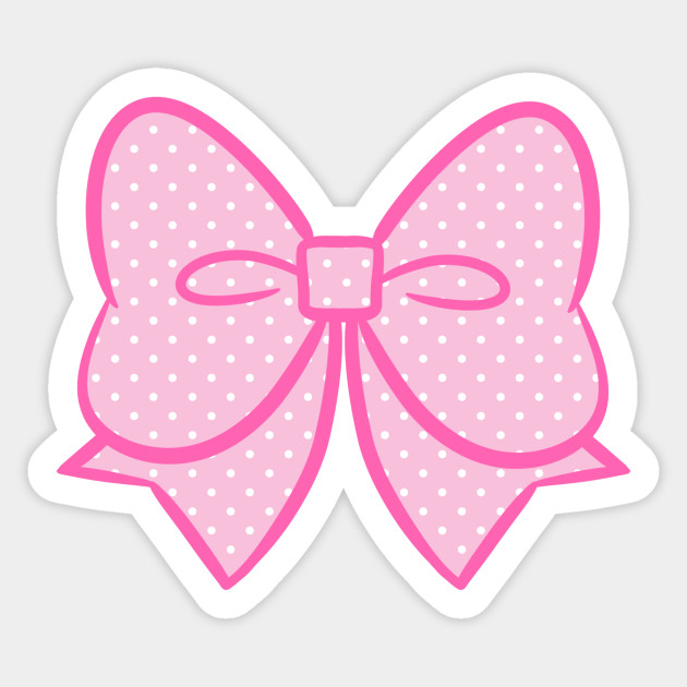 Big polka dot bow. Bows clipart kawaii