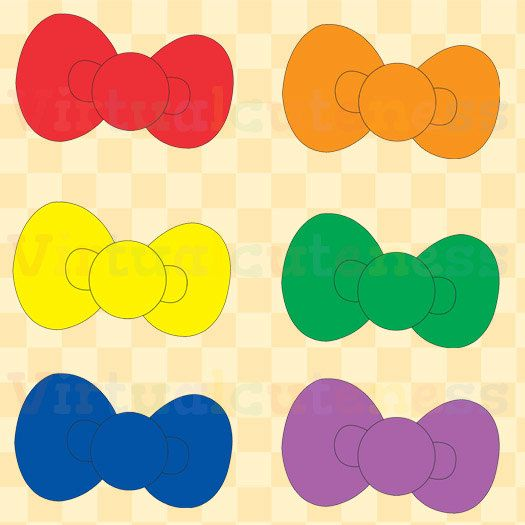 Bows clipart kawaii. Rainbow cute bow planner