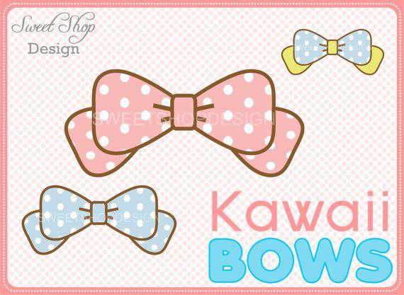 Clip art baby shower. Bows clipart kawaii