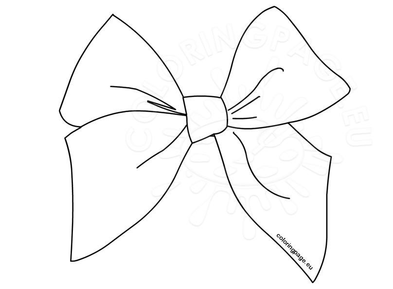 White bow clip coloring. Bows clipart line art
