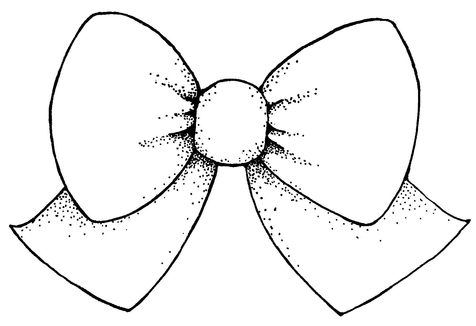 clip clipartlook. Bow clipart line art