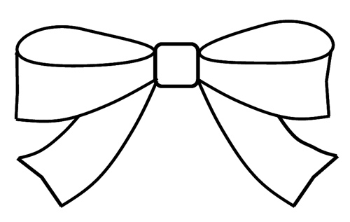 Free download clip . Bow clipart line art