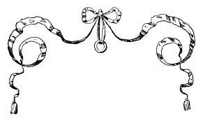 French antic google suche. Bow clipart line drawing