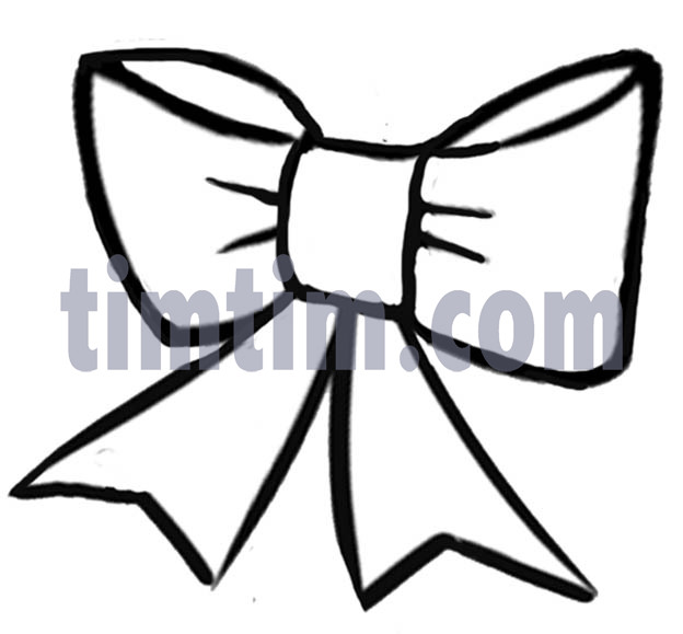 Bow clipart line drawing. Free of a christmas