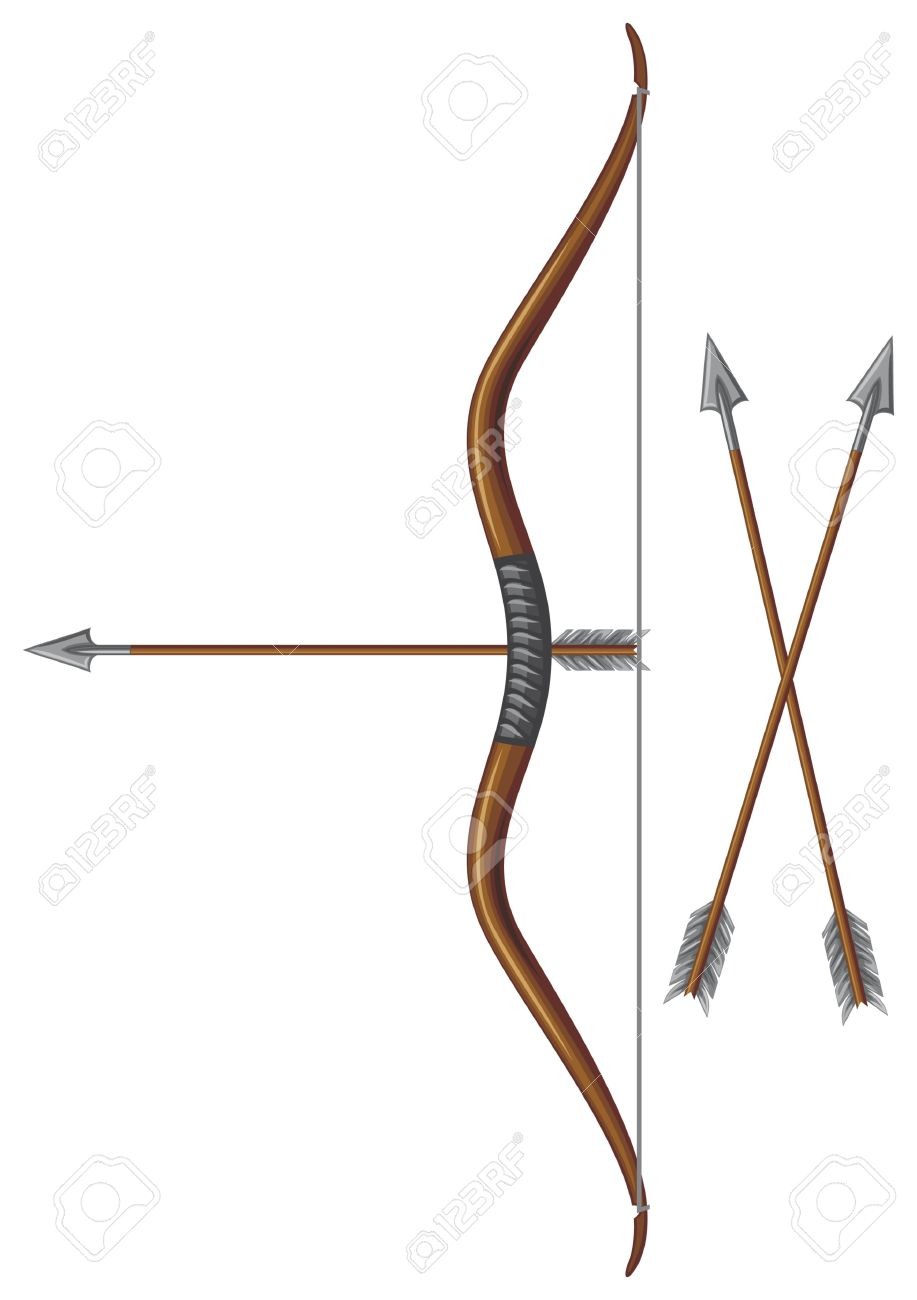 Bow and arrow free. Bows clipart medieval