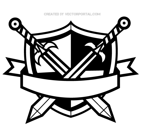 Banner pencil and in. Bow clipart medieval