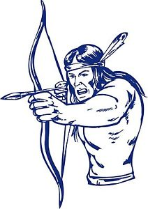 Bows clipart native american. Indian warrior bow hunter