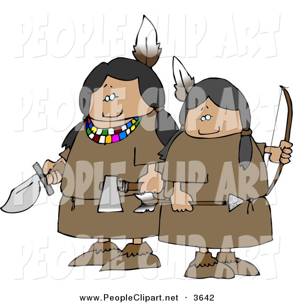 Clip art of a. Bows clipart native american