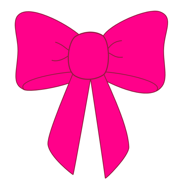 Clip art black and. Bows clipart pink
