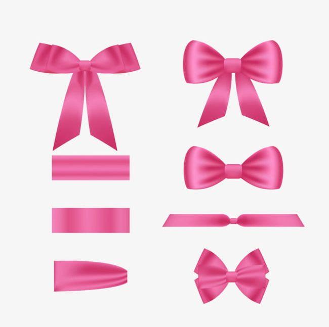 Pink ribbon bow png. Bows clipart princess