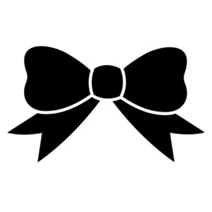 Ribbon bow. Bows clipart black and white