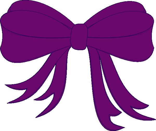 Bows clipart purple. Bow clip art at