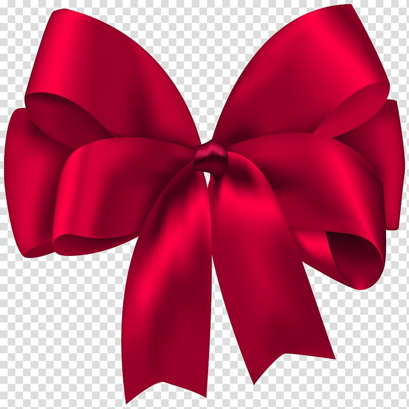 Clipart bow present bow. Ribbon gift red illustration
