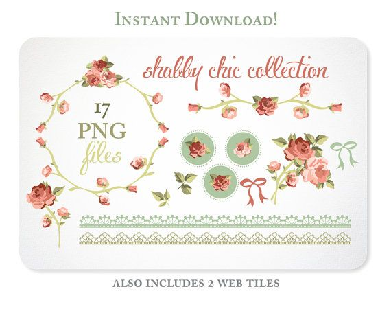 Bow clipart shabby chic.  best branding images