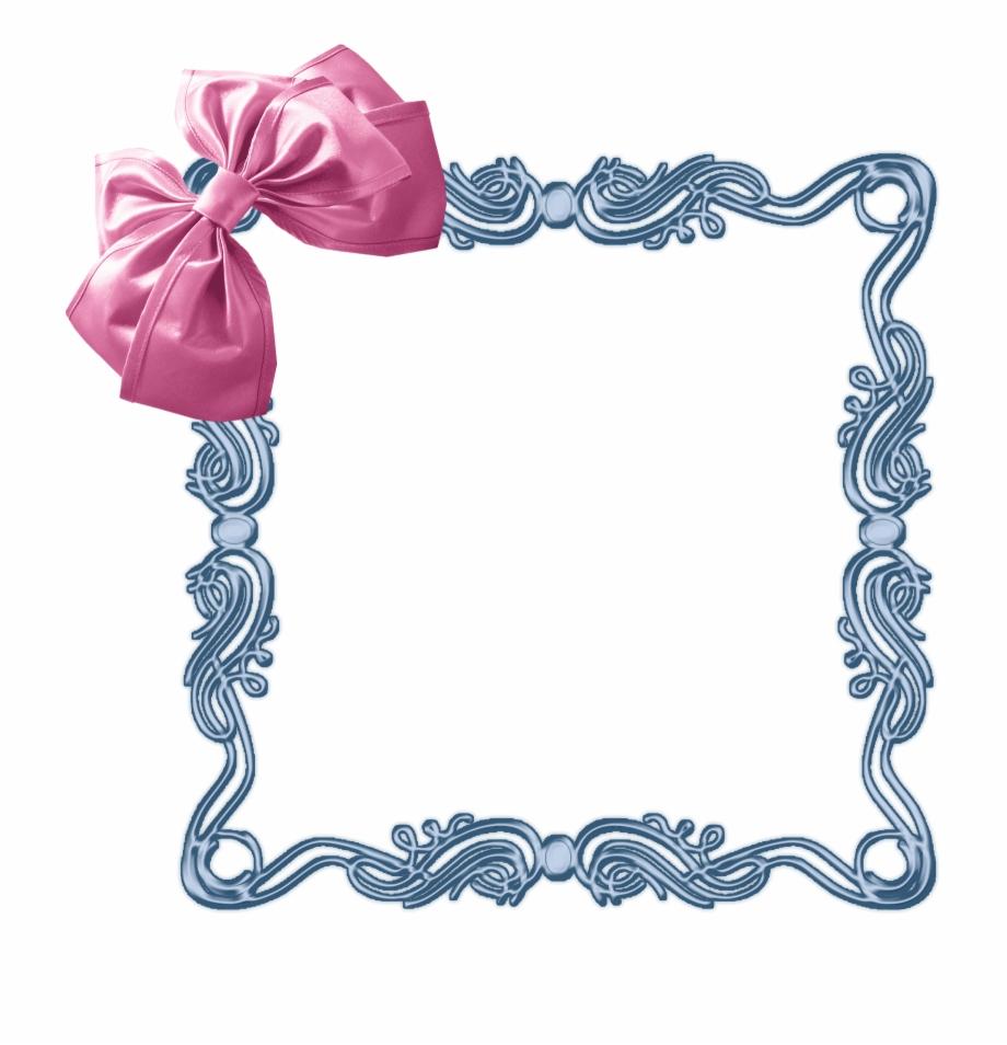 Cute frame frames clip. Bow clipart shabby chic