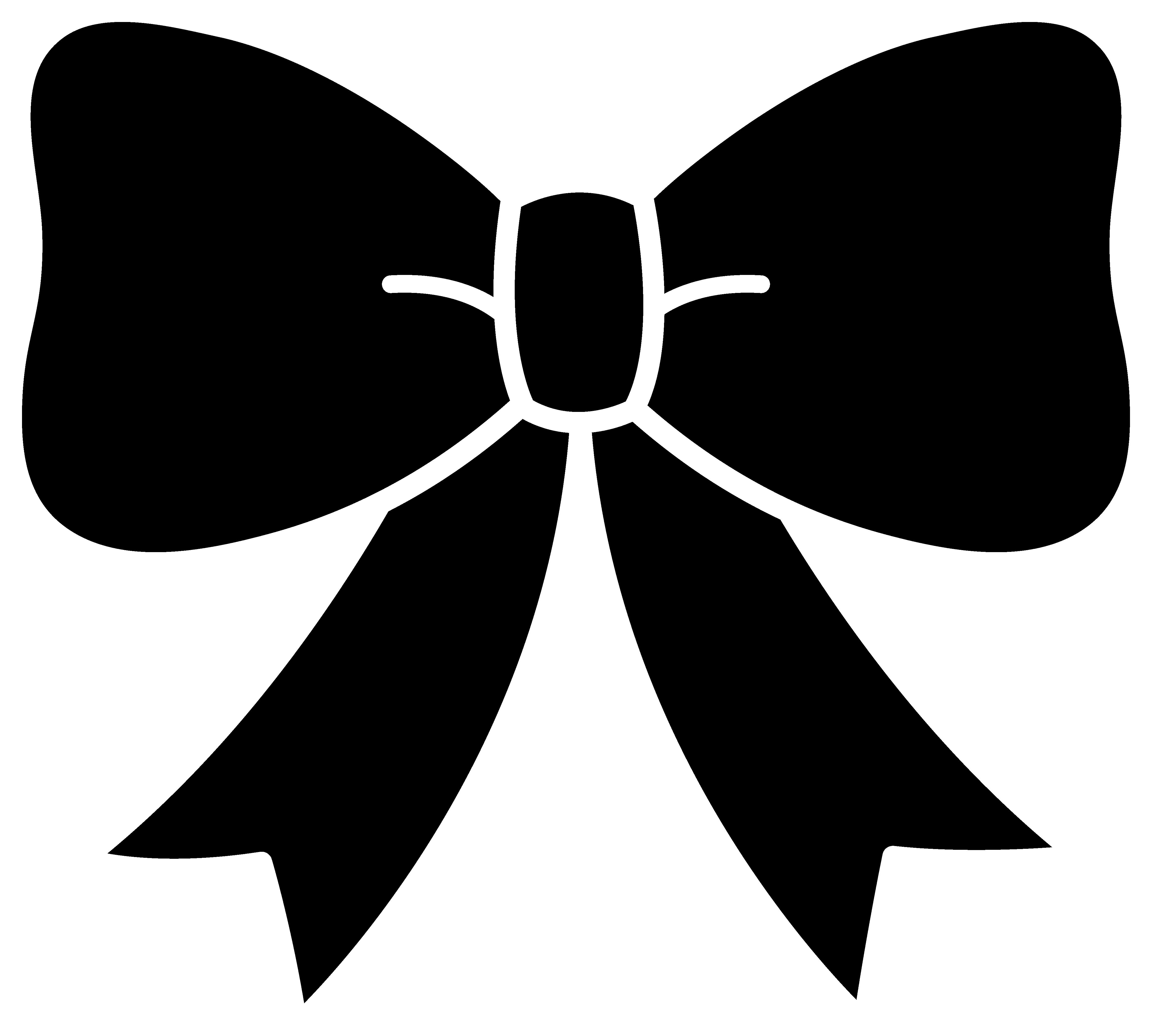 Girly clipart ribbon. Cute black bow silhouette