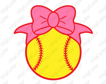 Baseball svg etsy with. Softball clipart bow