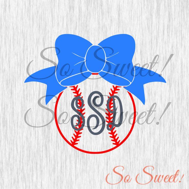 best softball cut. Bows clipart baseball