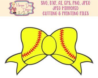 Svg etsy clip art. Softball clipart bow